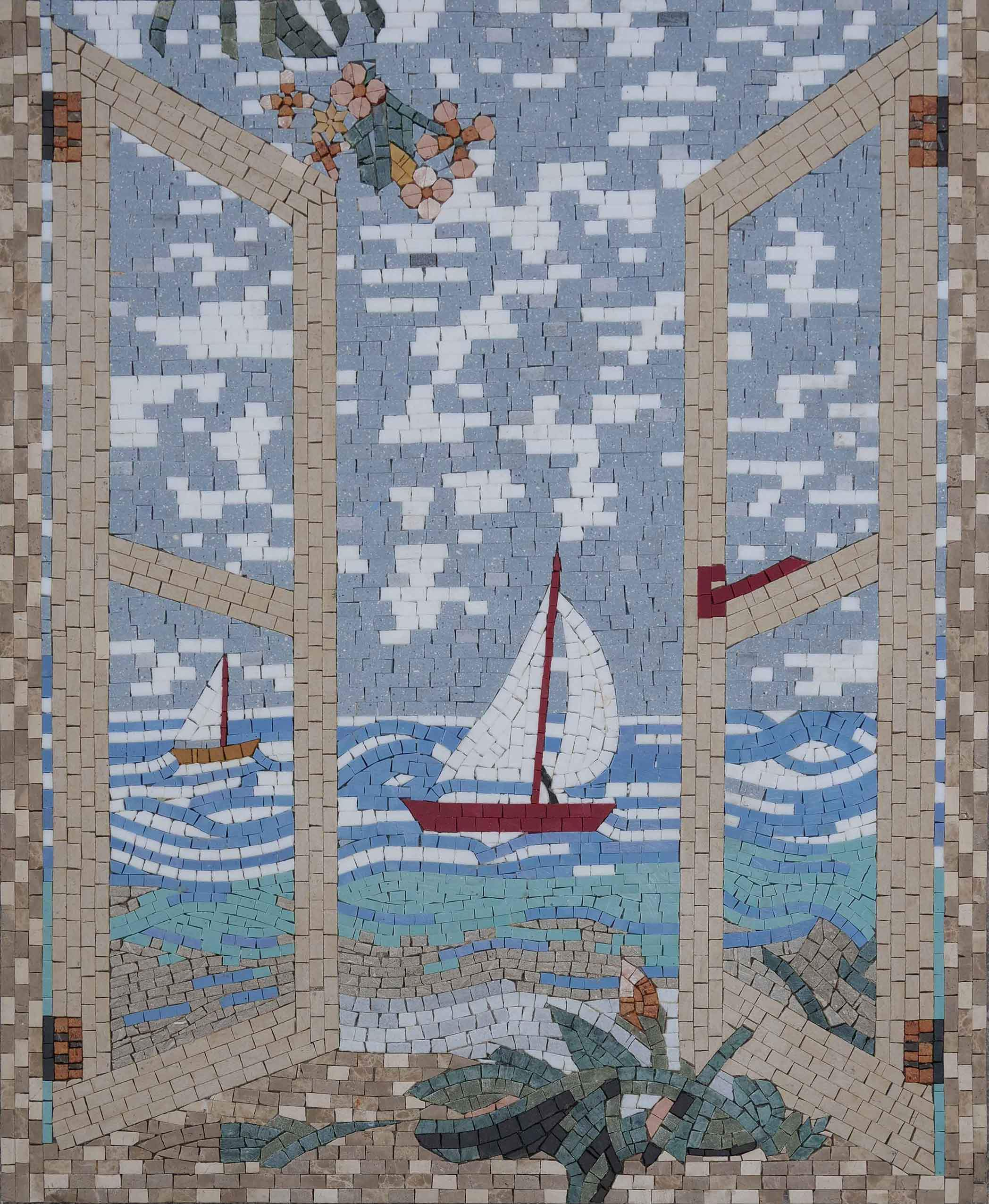 Sailing Balcony View Mosaic Art Pic
