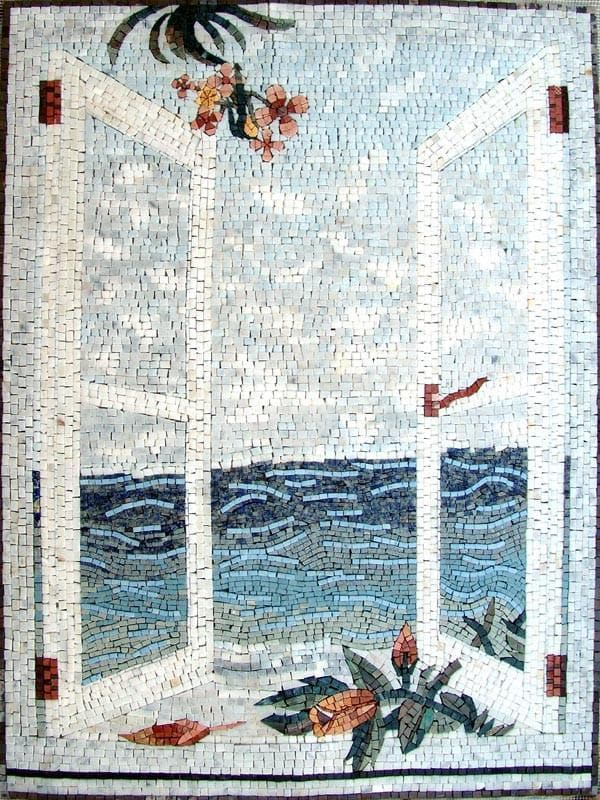 Opened Window Mosaic Art