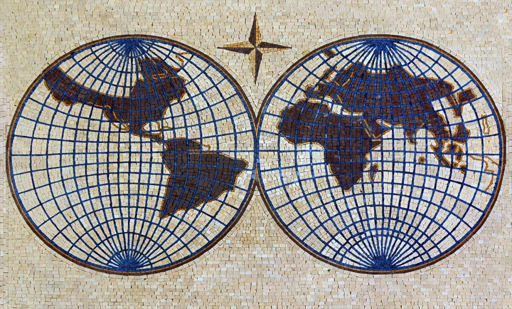 World Map Mural Mosaic
