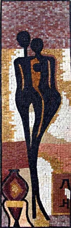 Embracing Silhouettes - Modern Mosaic Art