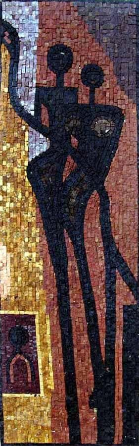 Mosaic Abstract - Contemporary Silhouettes