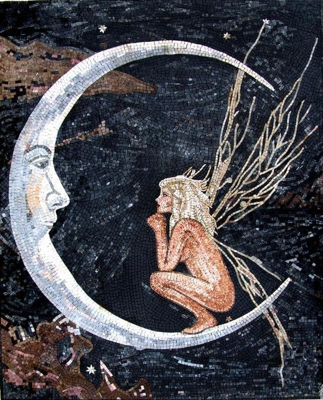 Moon Fairy Decorative Mosaic