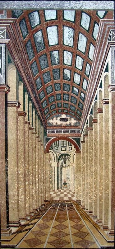 Marble Mosaic Mural Wall In 3d Pic