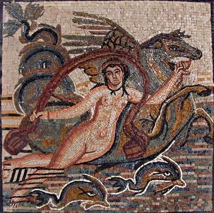 Aphrodite goddess of Love Mosaic Artwork