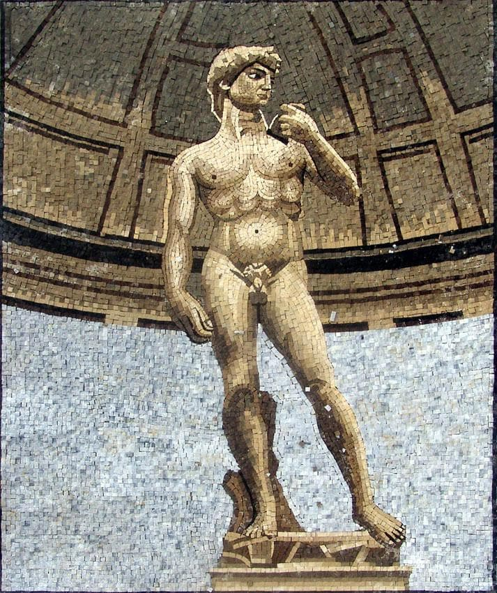 "Michelangelo Pieta and David"" - Mosaic Reproduction """