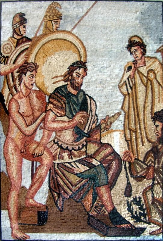 Mosaic Art Reproduction Union of Roman Gods
