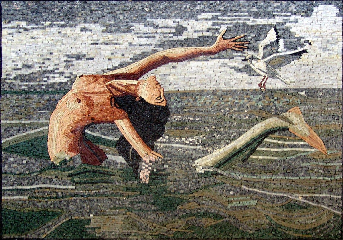 Dancing Mermaid Scene Mosaic