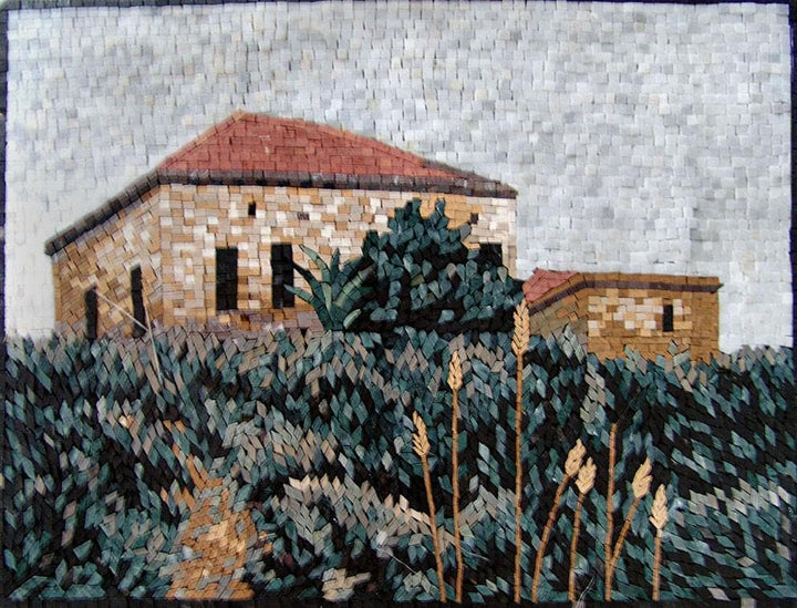 Ancient House On Hill Mosaic