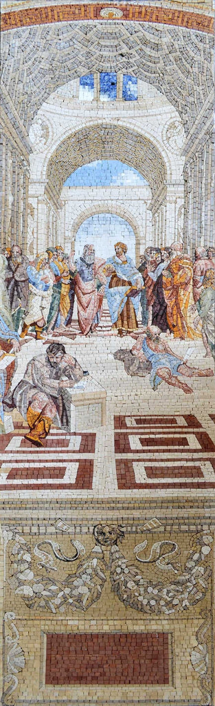"Rafael School Of Athens"" - Mosaic Reproduction """