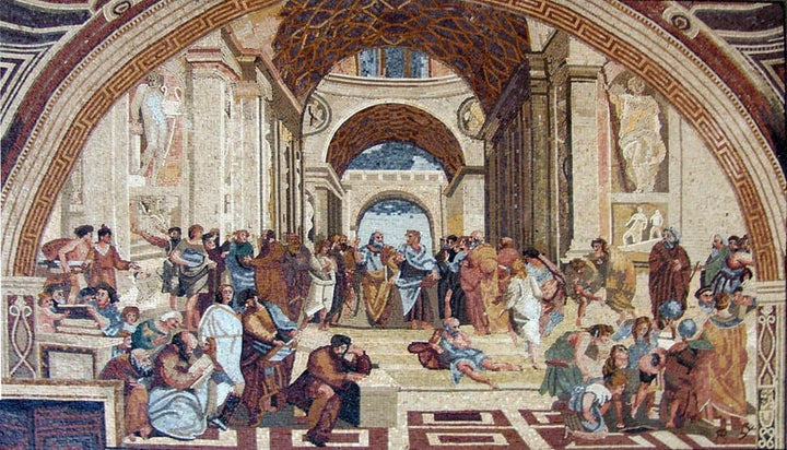 "Rafael School of Athens"" - Mosaic Art Reproduction"""