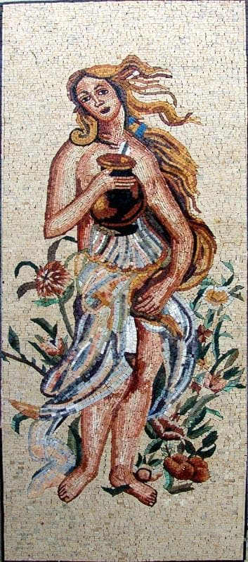 Woman Marble Mosaic Pic
