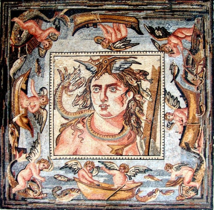 Artemis Virgin goddess of the hunt Mosaic