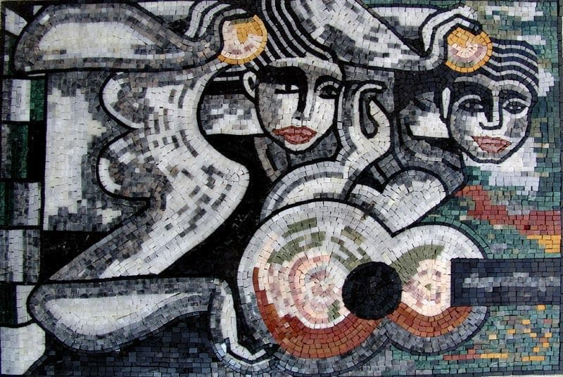 Figurative Abstract Mosaic Tile Art Pic