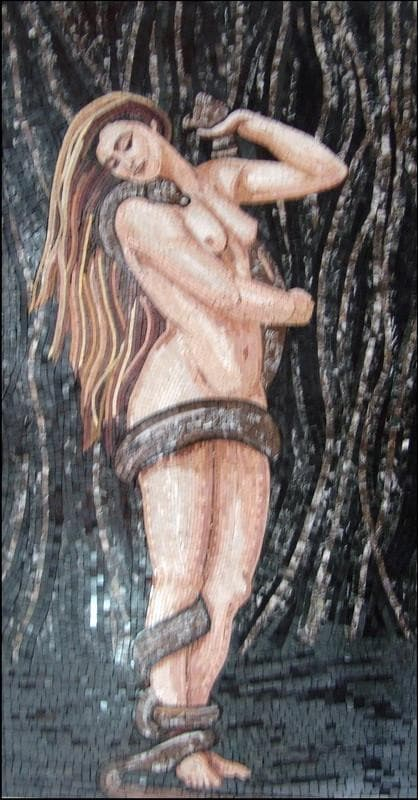Nude Woman In The Woods Art Mosaic Pic