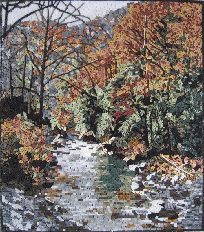 River Side Forest Landscape Mosaic