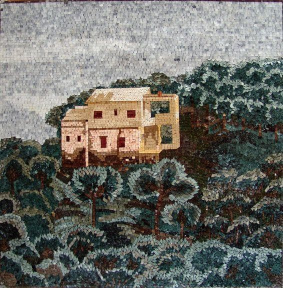 House on a hill mosaic