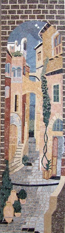 Old City Houses Mosaic