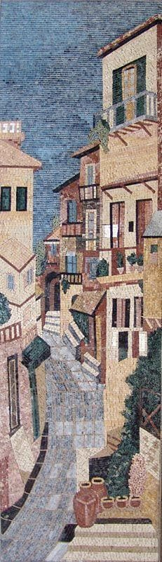 Vertical Mosaic Old Houses Pic