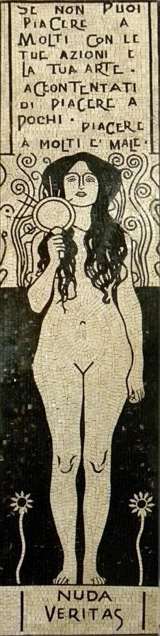 "Gustav Klimt  Nuda Veritas"" - Mosaic Reproduction """