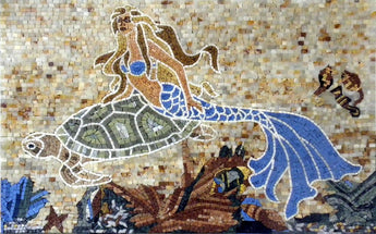 Artistic Mermaid Mosaic