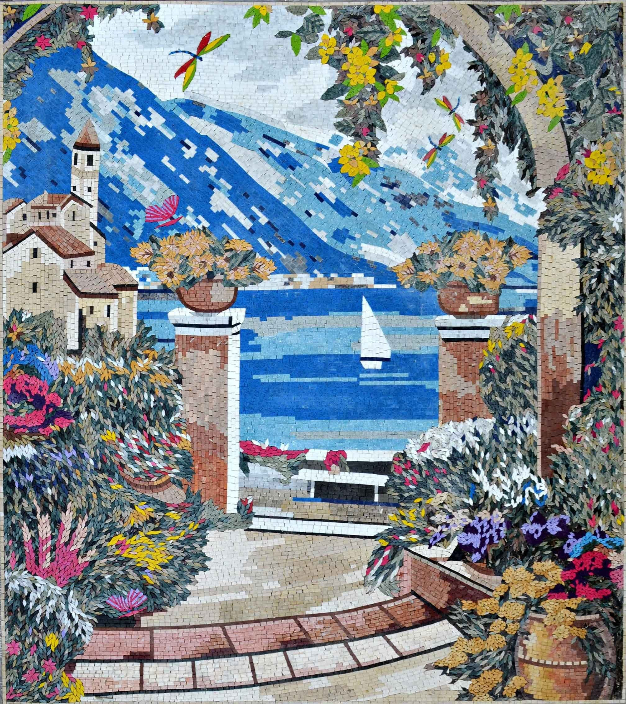 Landscape Mosaic Art Dreamty View Pic