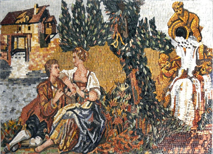 Scene from the Harem Mosaic Reproduction