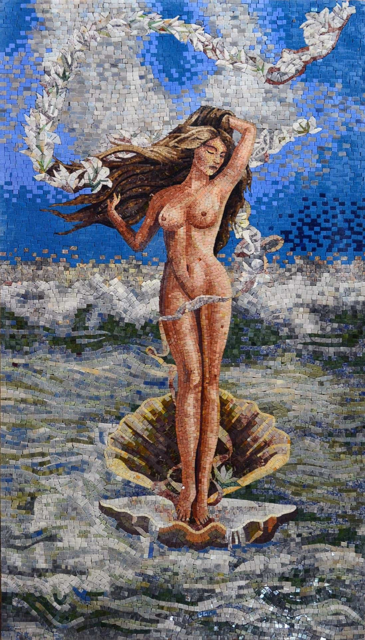 "Sandro Botticelli  Birth "" - Mosaic Art Reproduction """