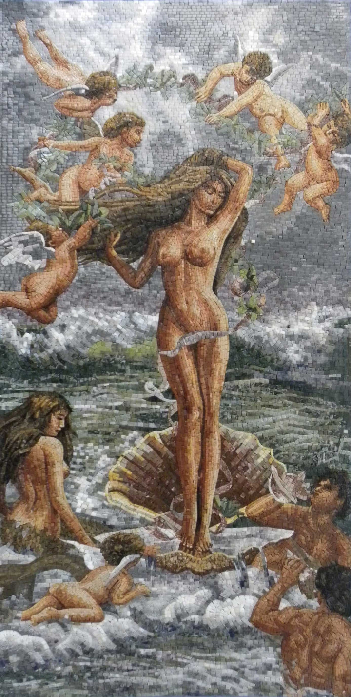 "Adolphe Bouguereau Birth Of Venus"" Mosaic Reproduction """