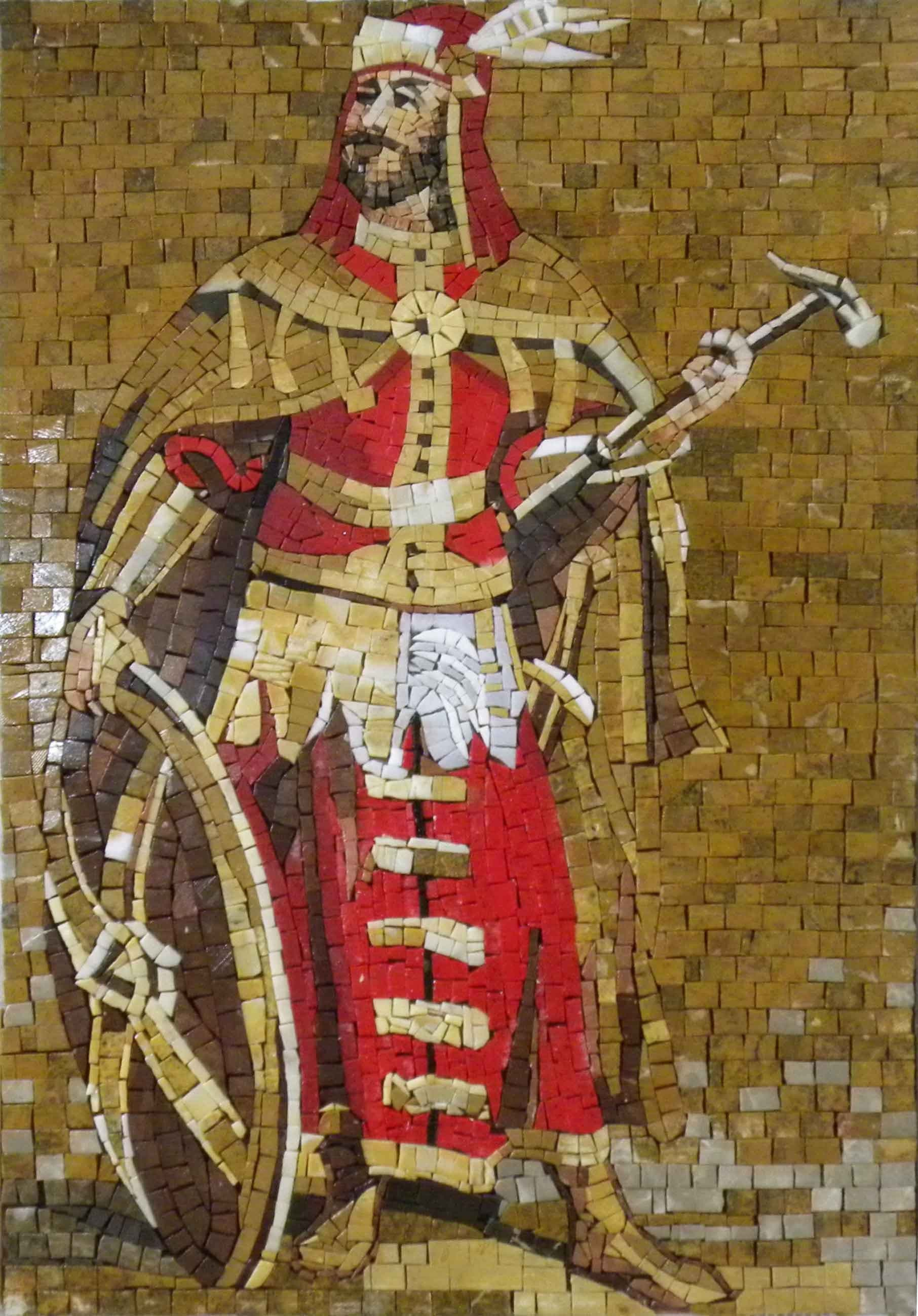 Handmade Mosaic The Roman Warrior