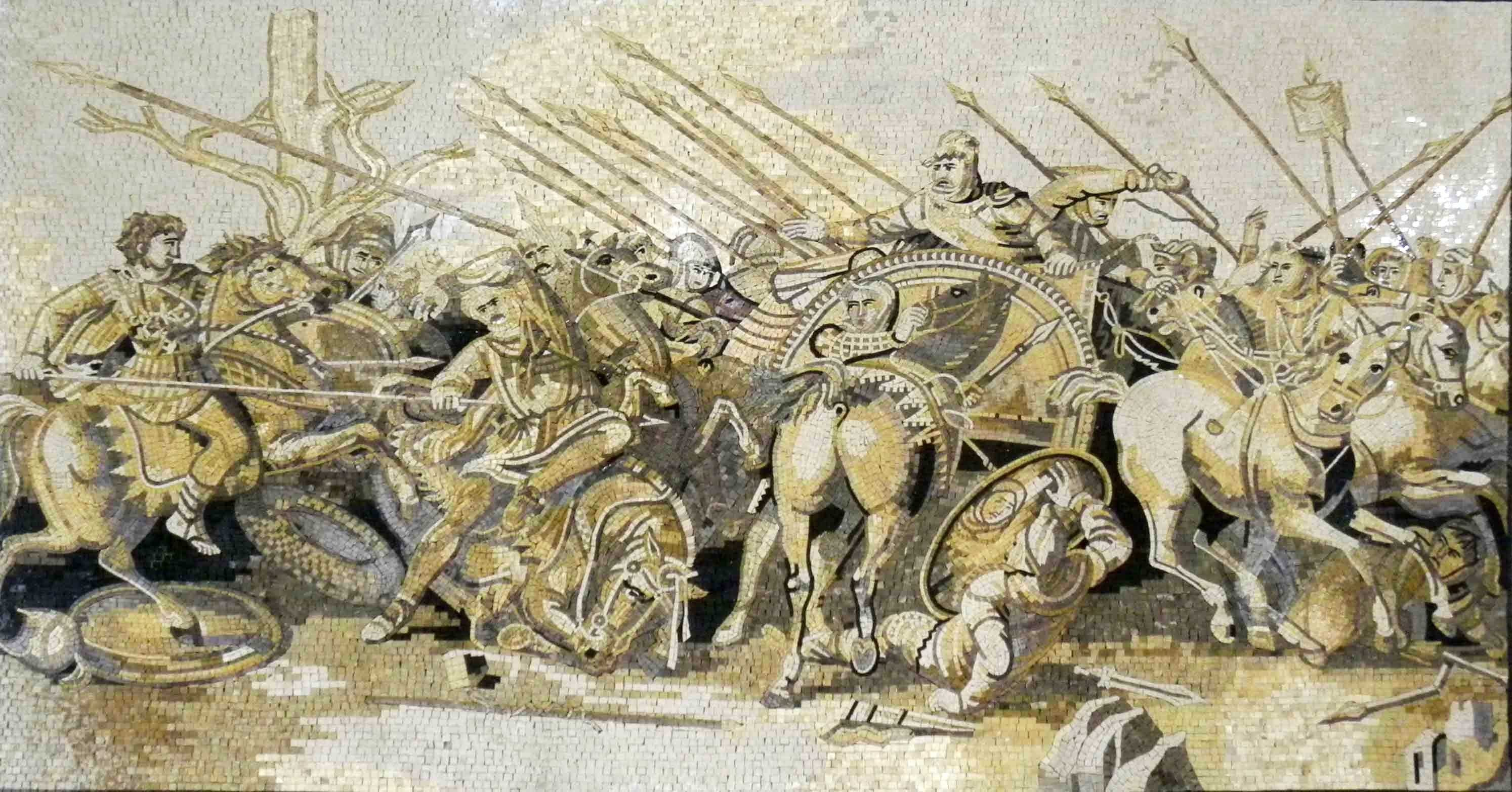 Mosaic Art Alexander's Battle Issus Pic