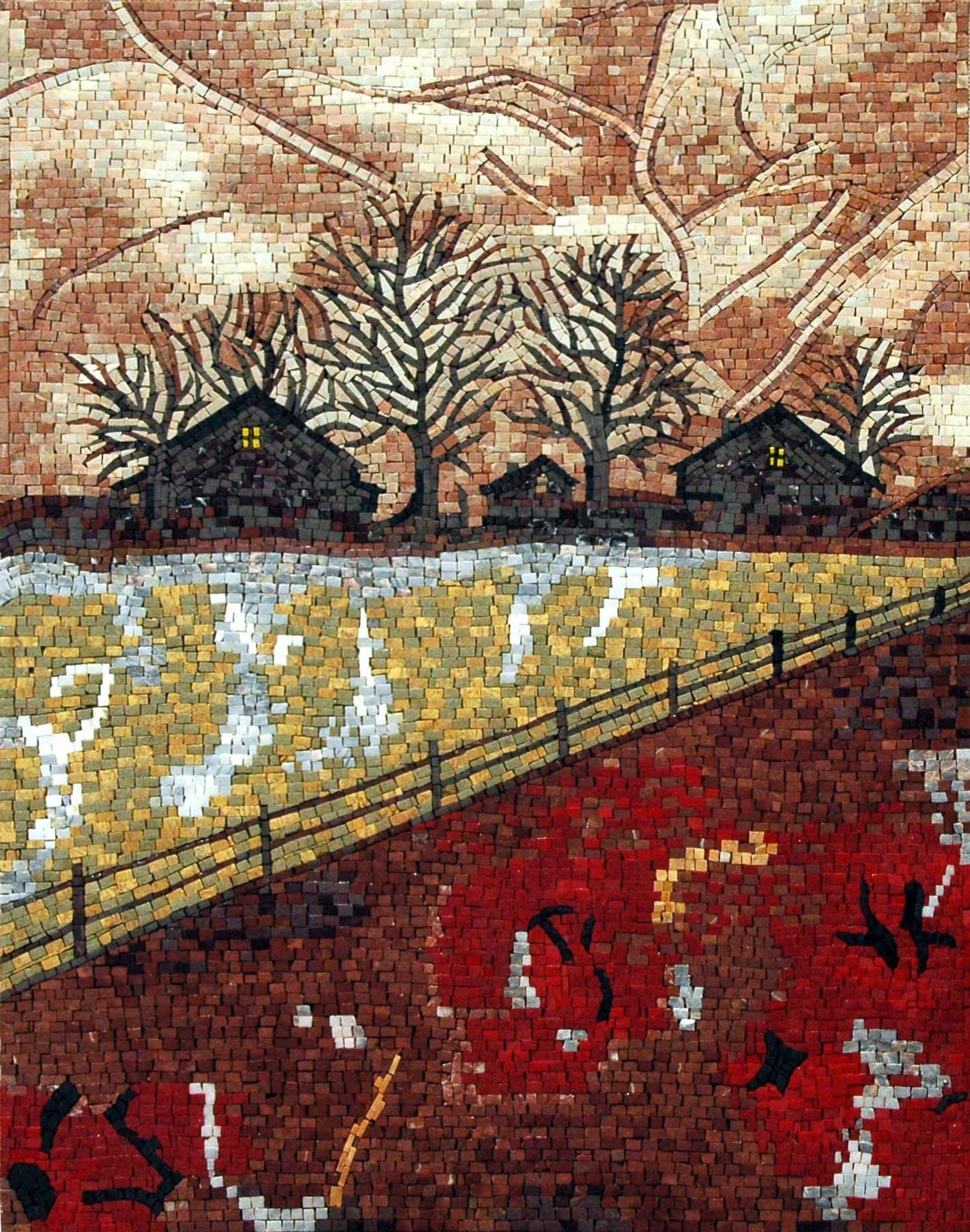 Expressionistic Mosaic Scene - Valley