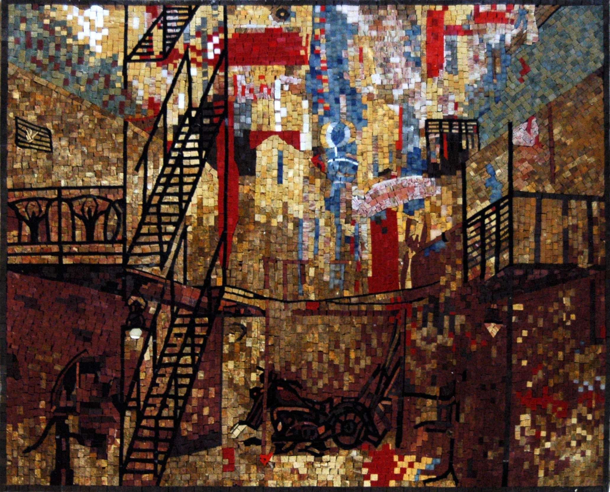 Abstract Mosaic Art- Urban Cityscape