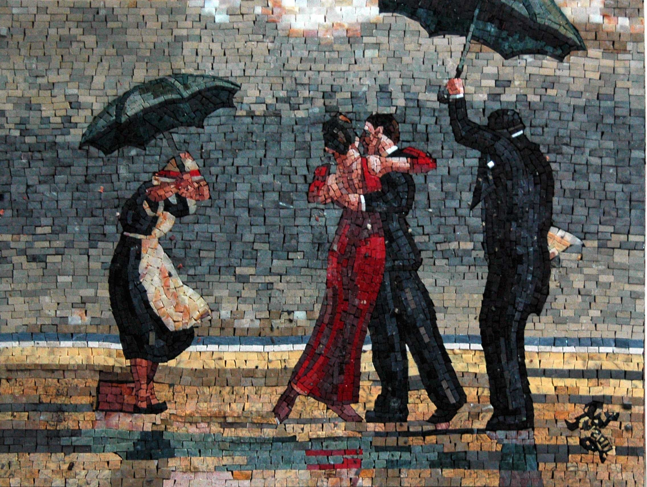 Jack Vettriano The Singing Butler Mosaic Reproduction Pic