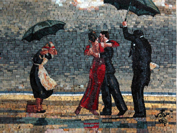 "Jack Vettriano The Singing Butler"" - Mosaic Reproduction """