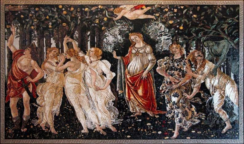 Sandro Botticelli La Primavera Mosaic Reproduction Pic