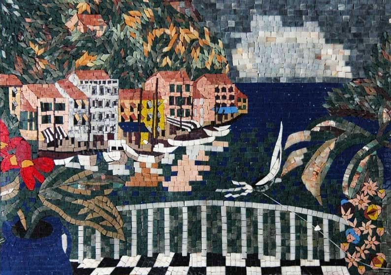 Natural Scene Mosaic Marble Pic
