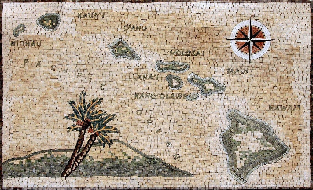 Hawaiian Islands - Mosaic Design
