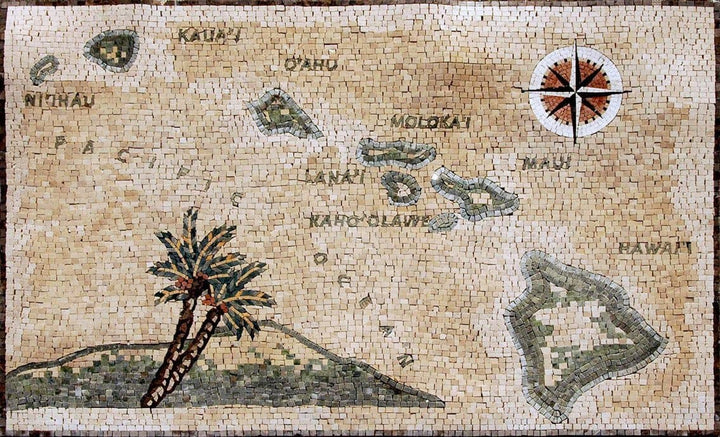 Mosaic Compass Designs - Hawaiian Islands