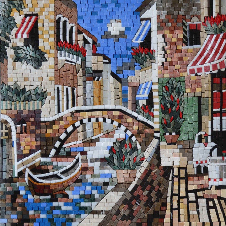 Caption of Marvelous Scene in Venice Mosaic Art