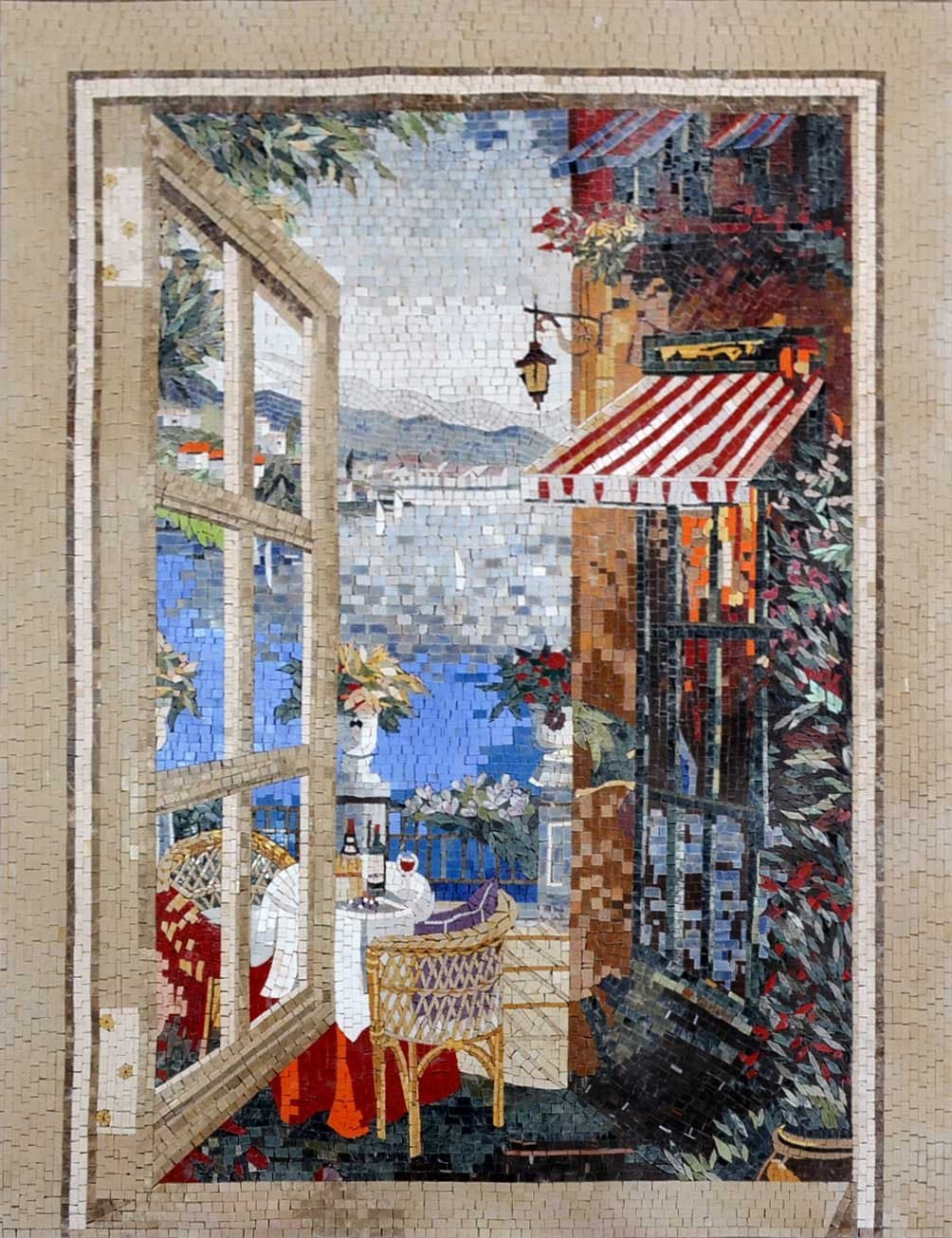 View From Window Marble Mosaic Pic