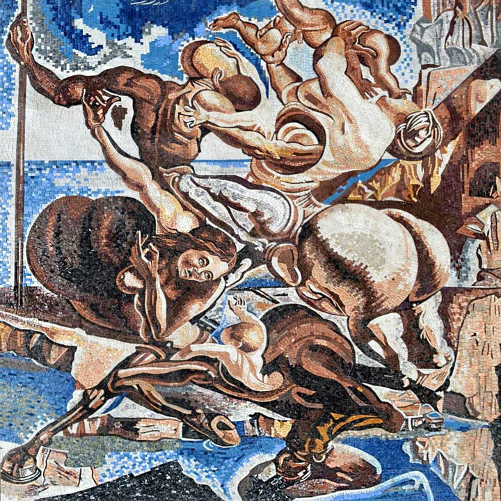 "Salvador Dali  Family of Marsupial Centaurs"" - Mosaic Reproduction """