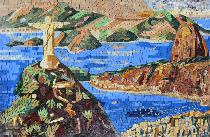 Stone Mosaic Art - Christ The Redeemer