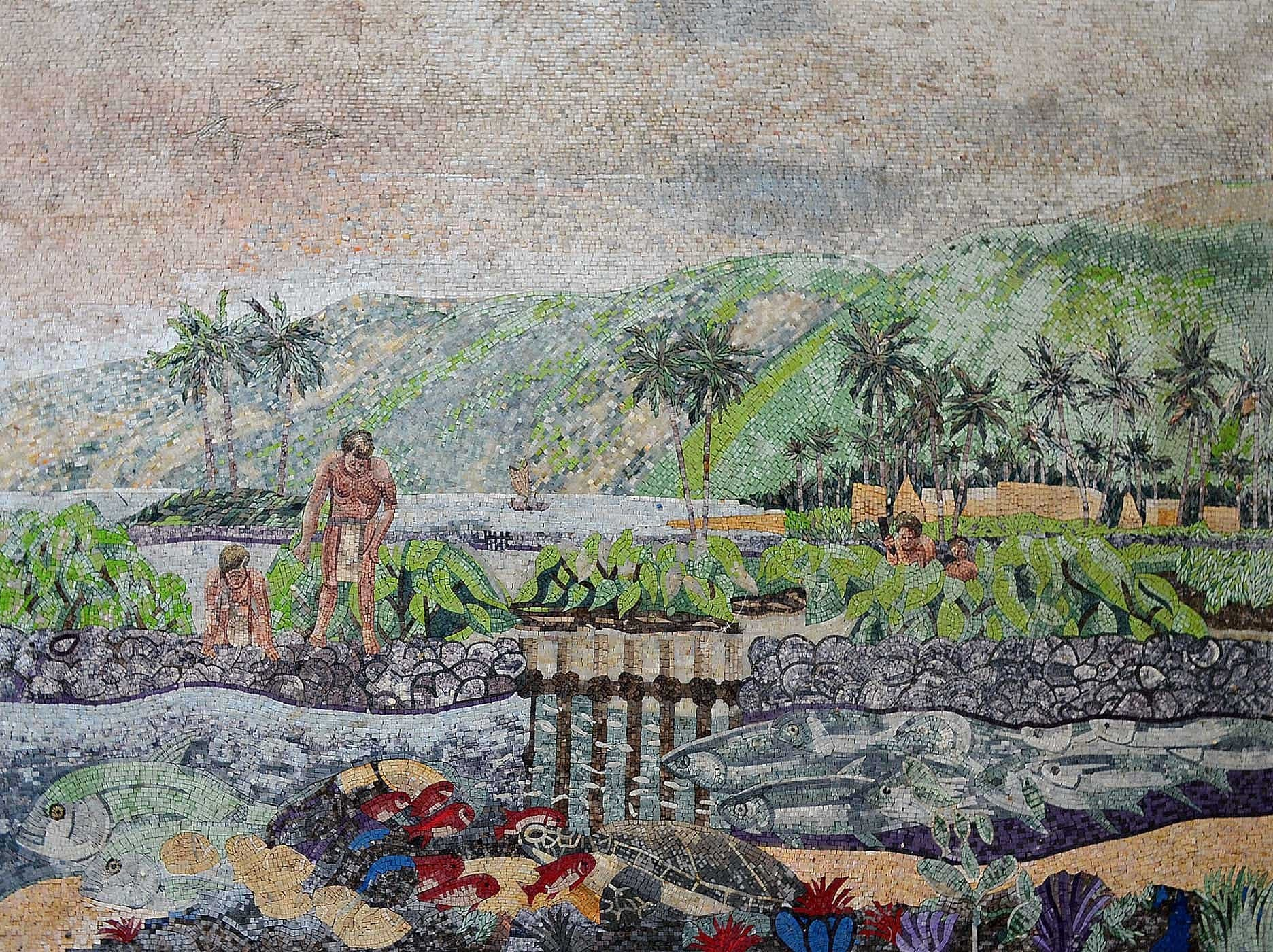 Primitive People Life Illustrative Mosaic Pic