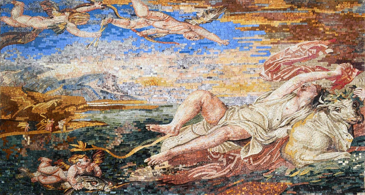 "Tiziano Vecelli  The Rape of Europa"" - Mosaic Reproduction """