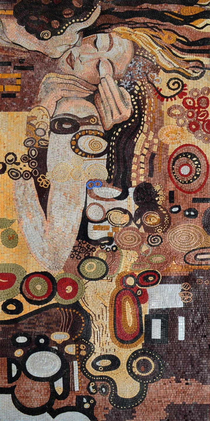 "Gustav Klimt  Kiss"" - Mosaic Reproduction """