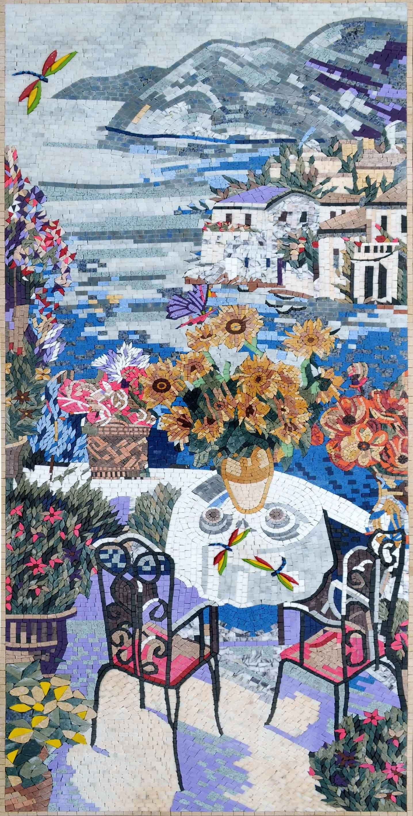 Marble Mosaic Art The Terrace View Pic
