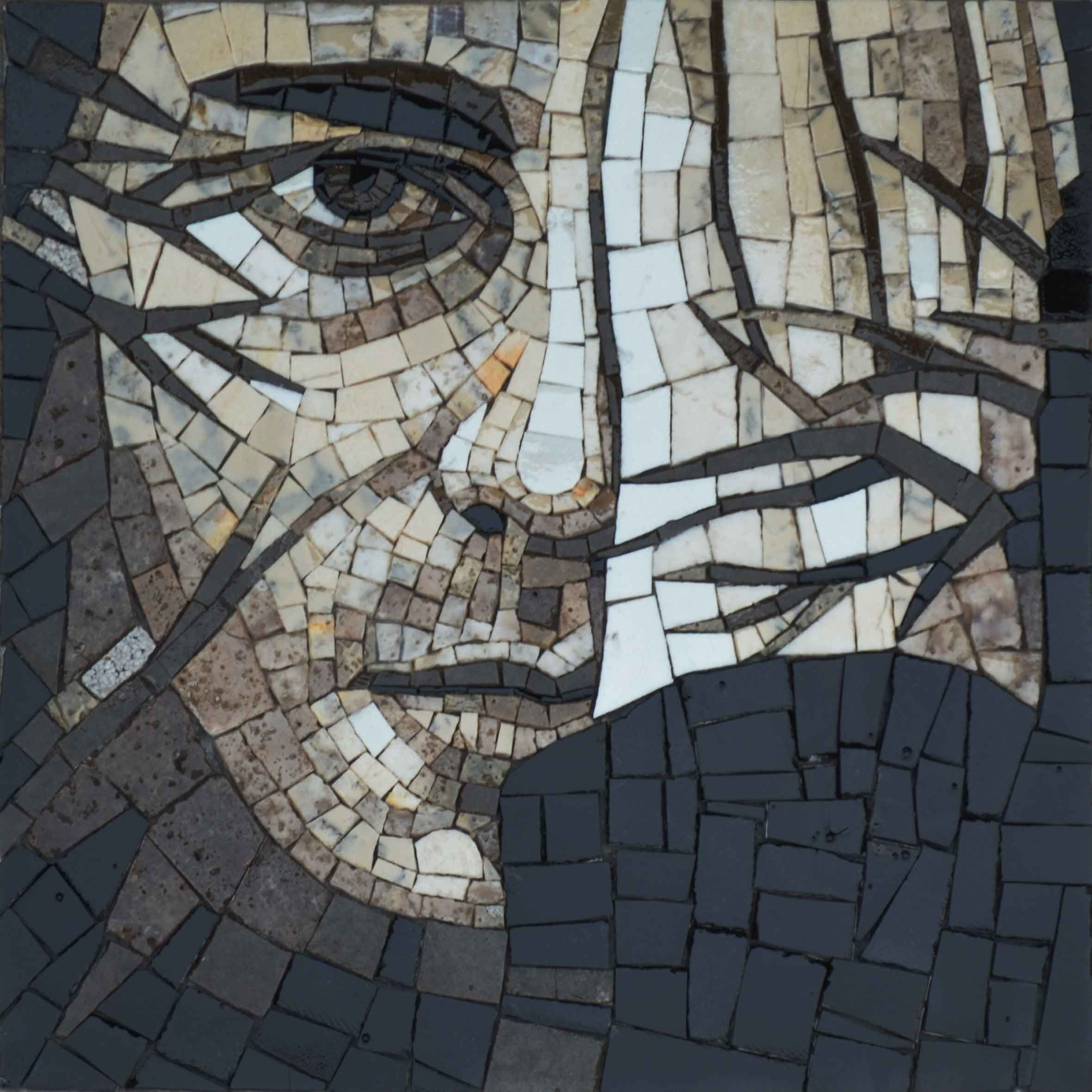 Abstract Mosaic The Face Of Man Pic