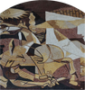 """Second Guernica"" by Pablo Picasso - Abstract Mosaic Reproduction"