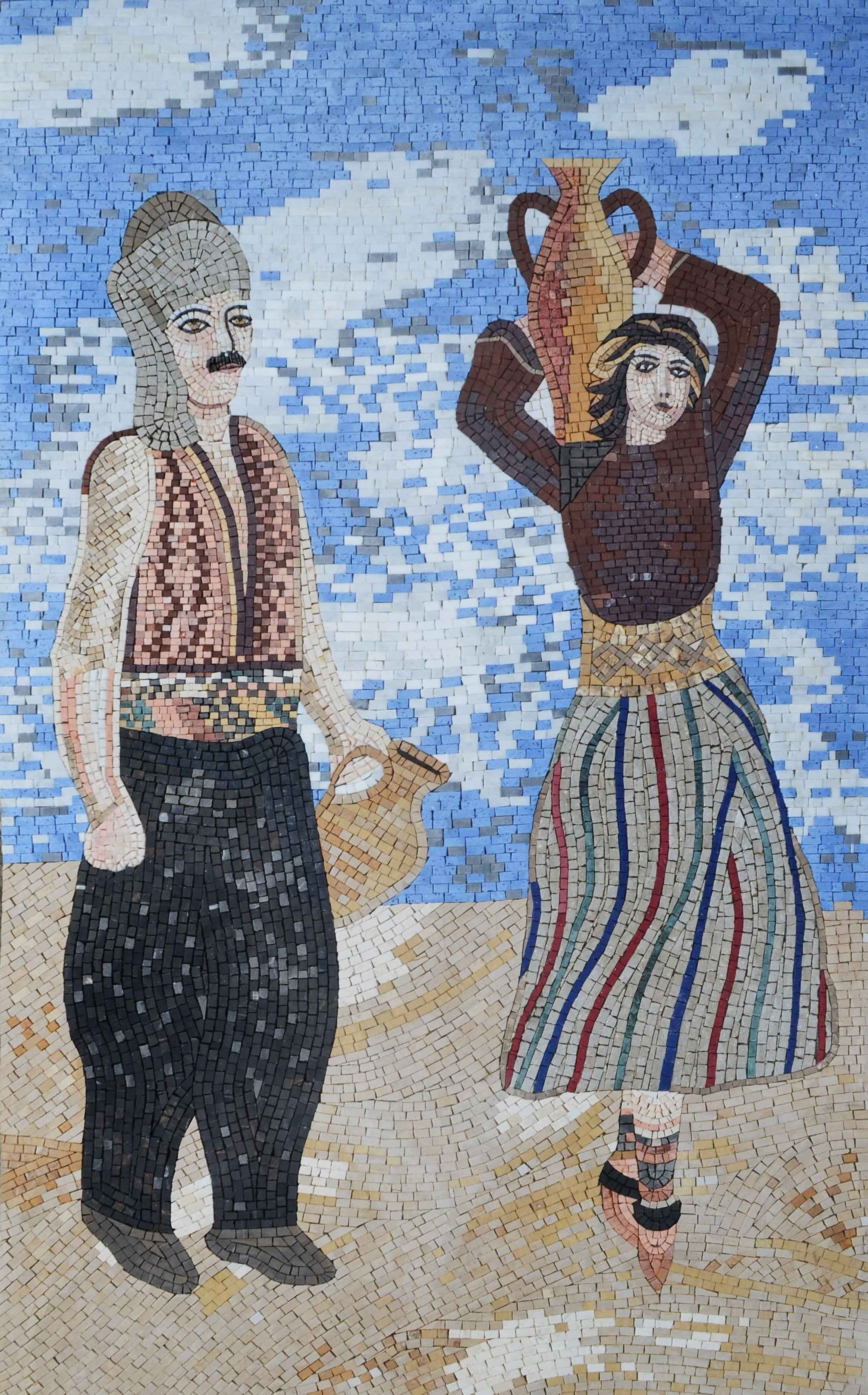 Traditional Couple Handmade Mosaic Pic