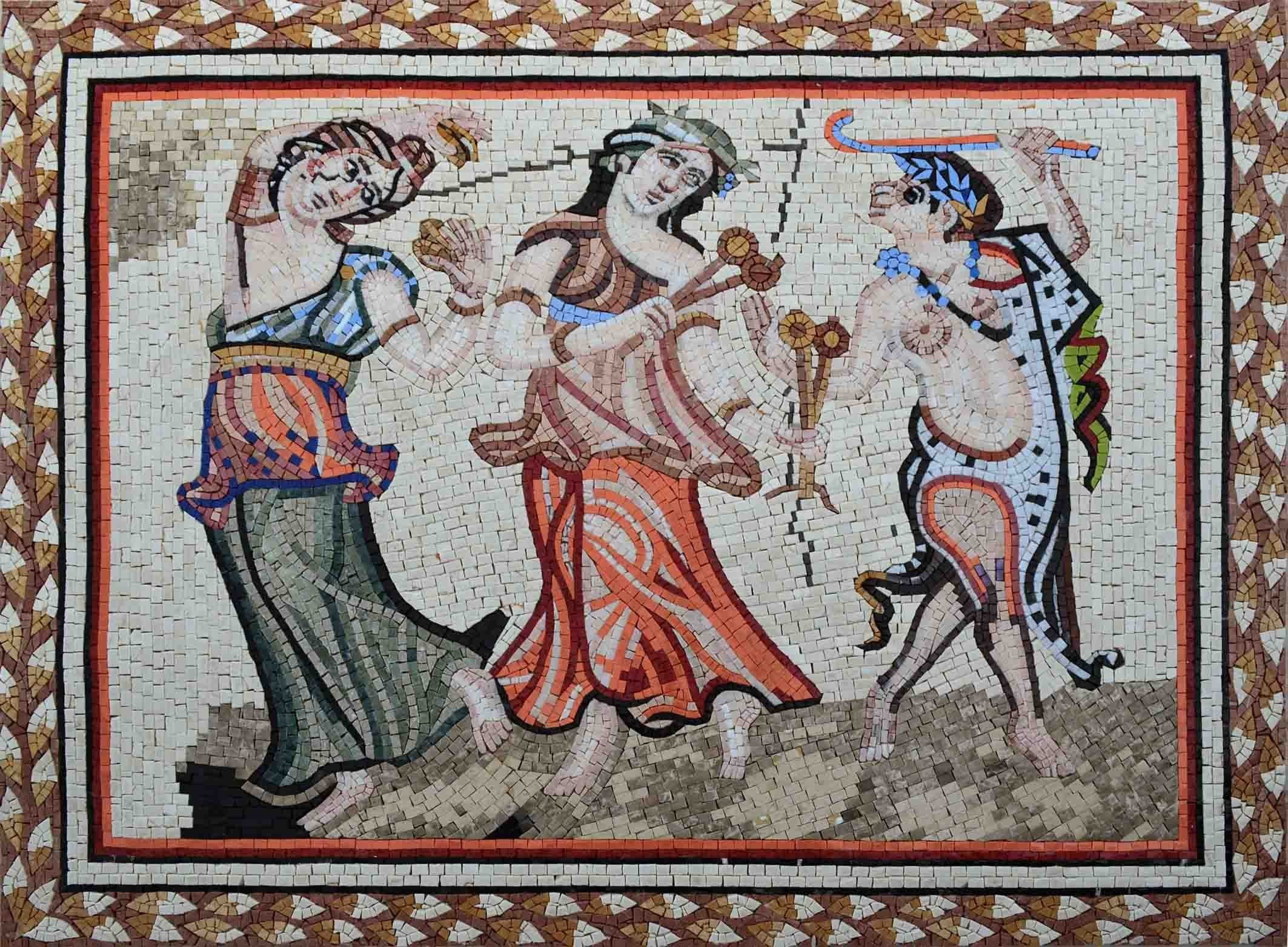 Marble Mosaic Reproduction - Dionysian Dance